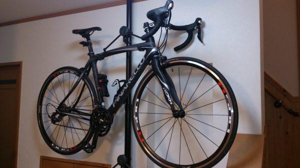 ロードバイクを室内保管!自転車スタンド④ピナ黒タワー10
