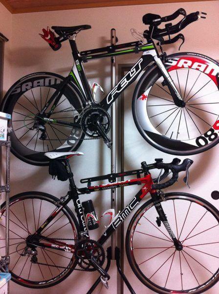 ロードバイクを室内保管!自転車スタンド⑦BMC_FELTグラビティ2