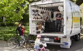 アメリカの移動自転車店