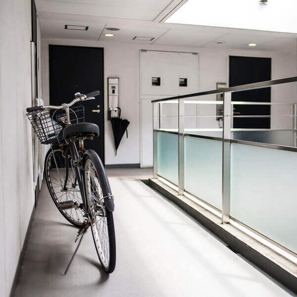 自転車スタンドがあるサイクリストマンション
