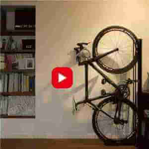 自転車ロードバイクスタンド(室内縦置き型)、クランクストッパースタンドの使い方動画