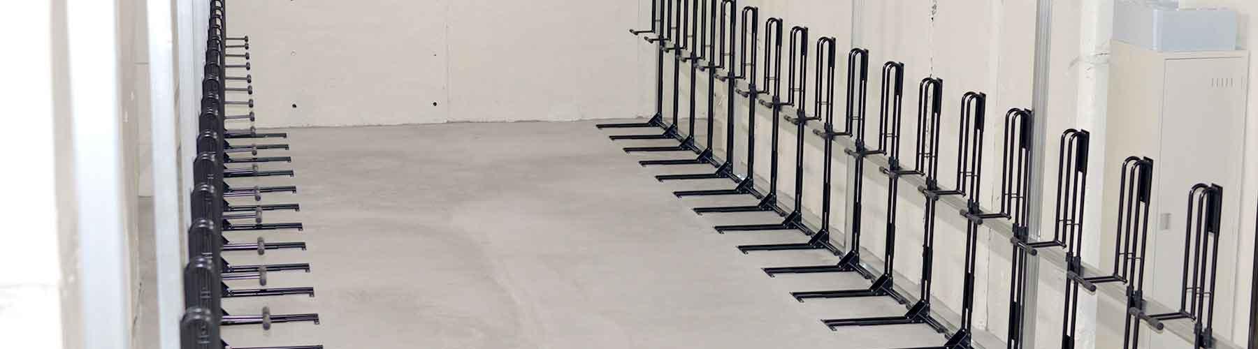 charipoolに設置された縦置き自転車スタンドCS-650