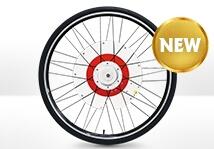 ロードバイクも前輪を入れ替えるだけで電動アシスト自転車に