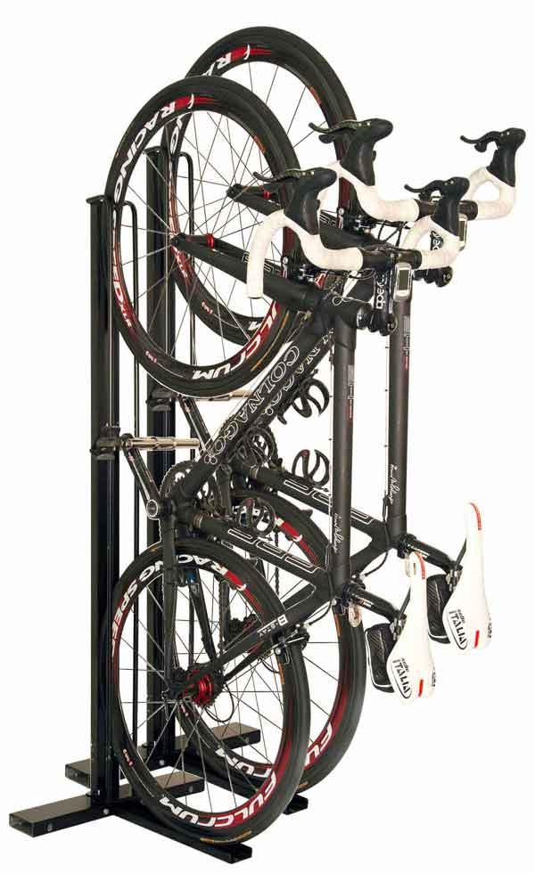 縦置き自転車スタンドCS-103を2台並べた場合