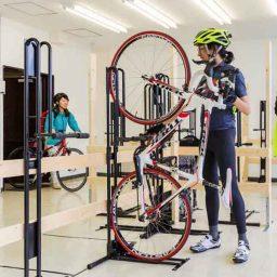 スポーツバイク専用の月極会員制駐輪場ヴェロスタ@大阪