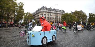 サイクリスト2@パリのカーフリーデイ