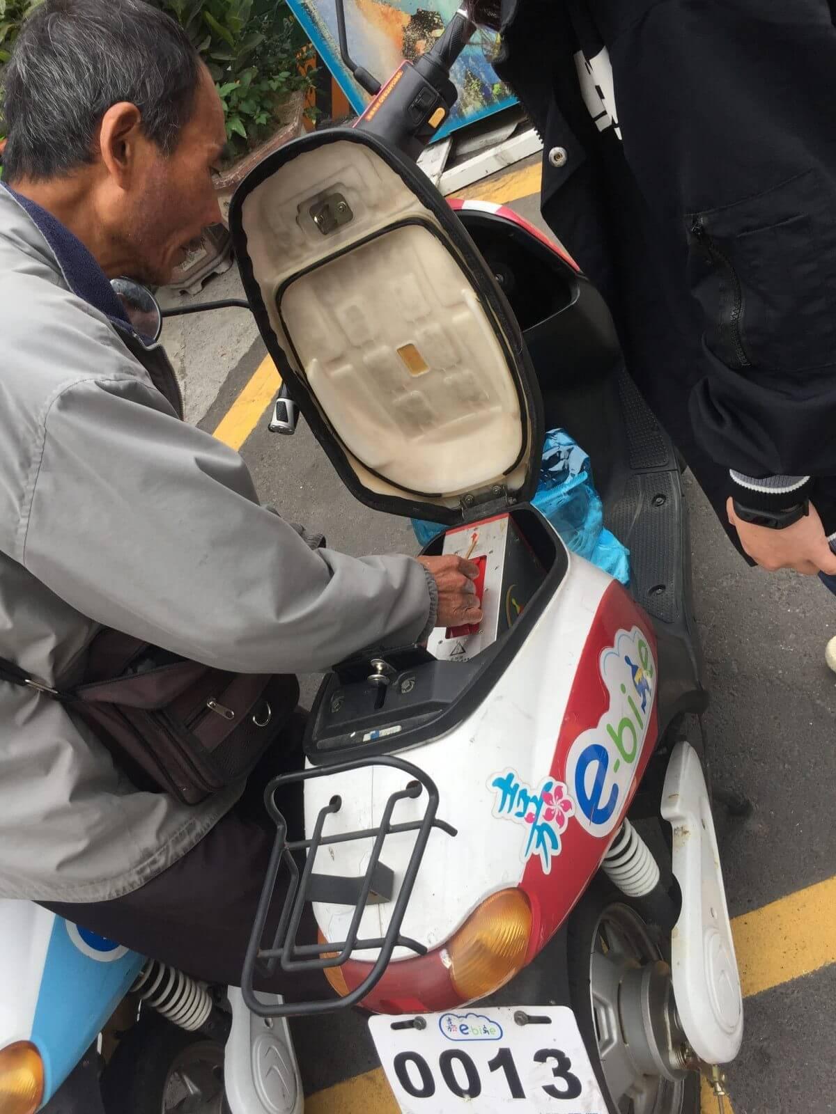 台湾シェアバイク バッテリー