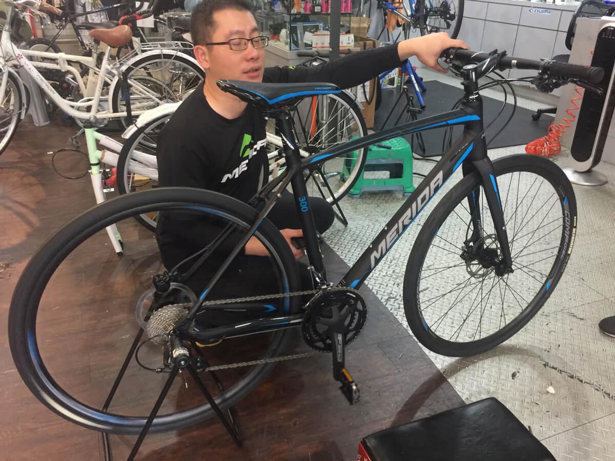 台湾で買ったクロスバイク merida speeder300