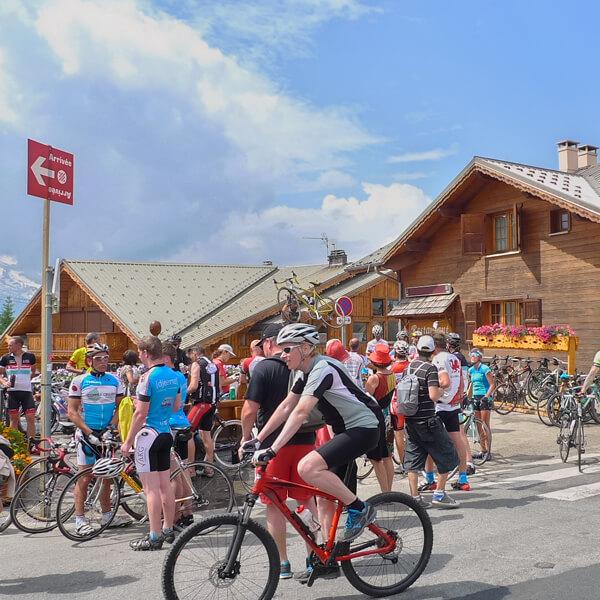 サイクリングイベント風景